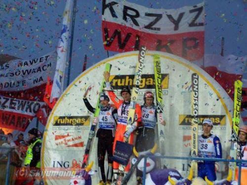Podium niedzielnego konkursu - fot. Tadeusz Mieczyński